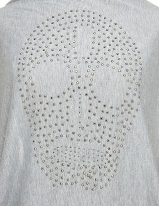 Charlotte Russe Studded Skull Infinity Scarf