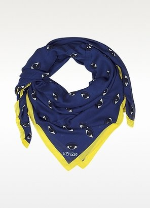 Kenzo New Eyes Navy Blue Modal and Cashmere Stole
