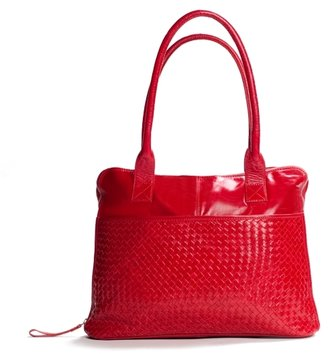 Latico Leathers Zip Around Tote - Red