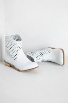 Anthropologie Woven Trail Booties