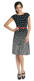 Anne Klein Ombre Dot Swing Dress