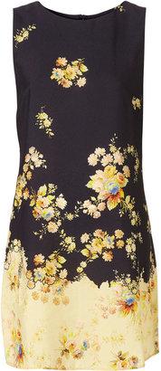 Topshop Navy Antique Floral Print Shift Dress
