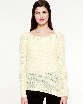 Le Château Textured Asymmetrical Hem Sweater