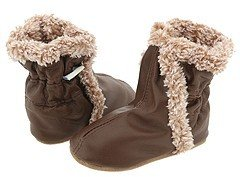 Robeez Classic Booties Soft Soles (Infant/Toddler) (Brown) - Footwear