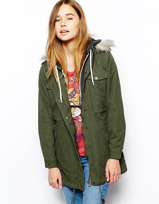 Stussy Hooded Parka - Green