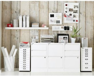 Container Store Mesh Desk Station White
