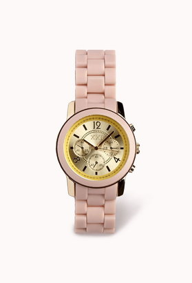 Forever 21 colored chronograph watch