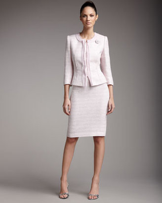 Tahari Fitted Boucle Suit