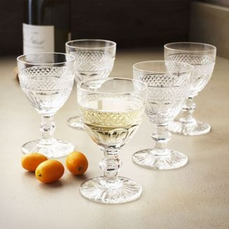 Chef'N Vintage Saint Louis Crystal Diamond-Cut Cordial Glasses, Set of 5