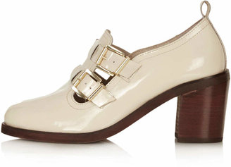 Topshop Jacques2 double buckle shoes