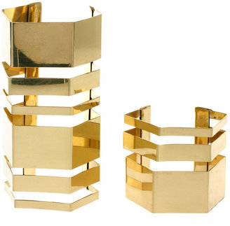 Asos Two Pack Hex Cuff Bracelets