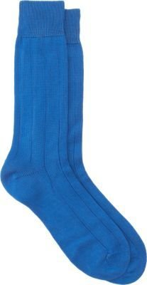 Barneys New York Wide Rib Mid-Calf Socks