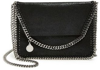 Stella Mccartney 'Mini Falabella - Shaggy Deer' Faux Leather Crossbody Bag - Black $645 thestylecure.com