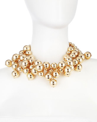 Kenneth Jay Lane Golden Triple-Ball Necklace
