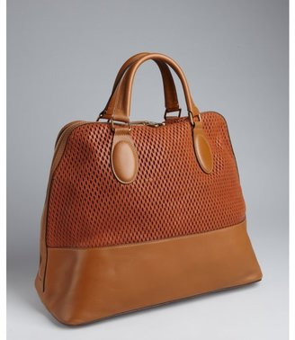 Chloé caramel perforated leather 'Charlie' tote