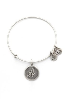 Women's Alex And Ani 'Initial' Adjustable Wire Bangle $28 thestylecure.com