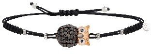 Pippo Perez Black Diamond Owl Bracelet - Rose Gold