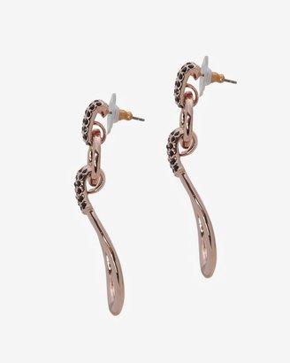 Giles & Brother Crystal Loop Post Back Earrings