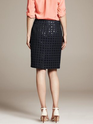 Banana Republic Square Jacquard Pencil Skirt