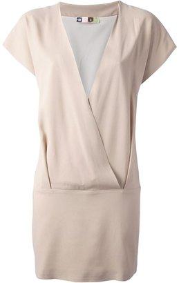 MSGM wrap style shift dress