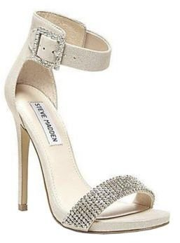 Steve Madden Leather Upper Marlenee Ankle Strap Heels