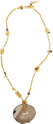 Yves Saint Laurent Agate and crystal necklace