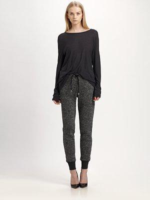 Alexander Wang Tweed-Print Sweatpants