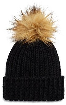 Fraas Girls' Faux-Fur Pom Hat