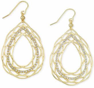 Simone I. Smith Crystal Openwork Teardrop Earrings in 18k Gold over Sterling Silver