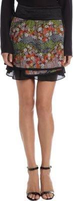 "Proenza Schouler Machine"" Print Chiffon Mini Skirt"