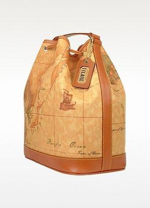 Alviero Martini 1a Prima Classe - Geo Printed Drawstring Bucket Bag
