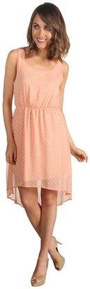 Gabriella Rocha Annelise Polka Dot Hi-Low Dress (Peach) - Apparel