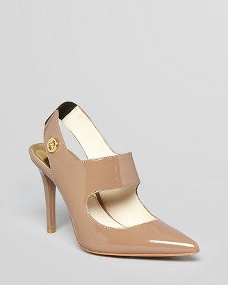 MICHAEL Michael Kors Pointed Toe Pumps - Sivian Slingback Mary Jane High Heel