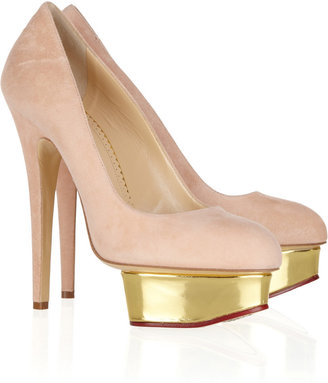 Charlotte Olympia The Dolly suede platform pumps