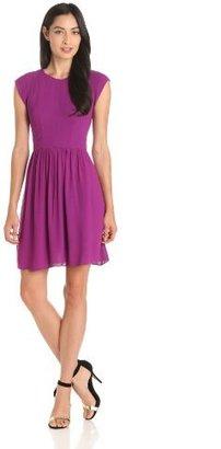 Rebecca Taylor Women's Silky Capsleeve Dress