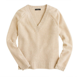 J.Crew Collection cashmere mixed-stitch sweater