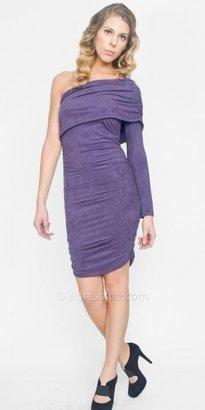 eDressMe One Shoulder Suede Day Dresses