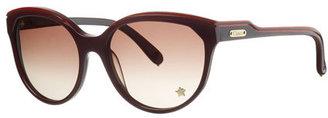 Chloé CL2180 Striped Sunglasses, Plum