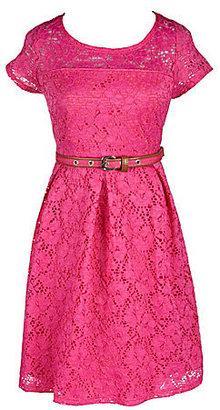 My Michelle 7-16 Crochet Lace Illusion Dress