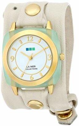 La Mer Women's LMACETATE005 Chrysophrase Acetate Wrap Watch