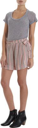 Etoile Isabel Marant Mel Silk Tap Shorts