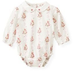 Janie and Jack Hand-Embroidered Collar Floral Bodysuit