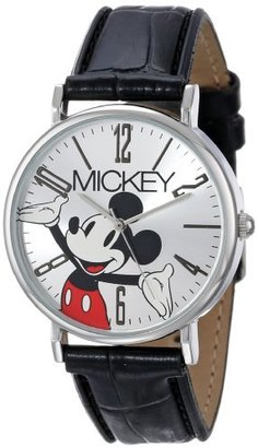 Disney Mickey Mouse Women's MCK493 Modern Black Strap Watch $27 thestylecure.com