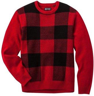 Chaps plaid sweater