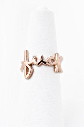 Jacquie Aiche Jewelry Fuck Ring 14K Gold