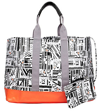 Diane von Furstenberg Loves Roxy Tote Bag In Roxy Maze True Black