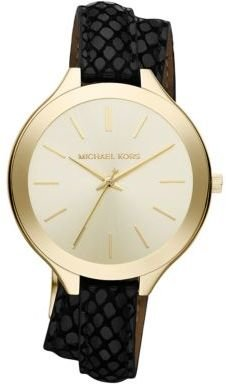 Michael Kors Ladies' Slim Runway Doubled Strap Watch