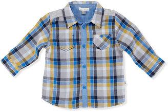 Petit Lem Plaid Button-Down Shirt, 12-24 Months