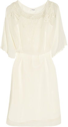 Temperley London Charm embroidered silk-chiffon dress