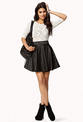 Forever 21 Bow Back Lace Top